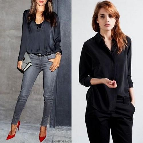 Черные женские блузки